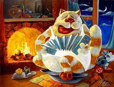 Позитивные коты художника Антона Горцевича