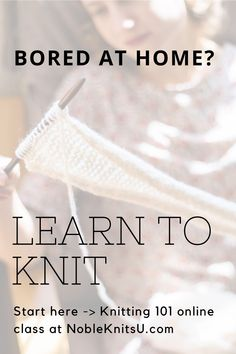 By learning to knit, you'll keep your mind and hands busy, have a creative outlet, and have something beautiful made just by you! This online knitting class teaches you how to cast on, knit, and bind off along with lots of must-know tips and a beautiful scarf project you will create. What are you waiting for? Learn to knit now! Beginner Knitting Patterns, Knitting Help, How To Start Knitting, Knitting Yarn, Knitting Projects, Knitting Tutorials, Knitting Ideas, Diy Craft Projects, Craft Ideas
