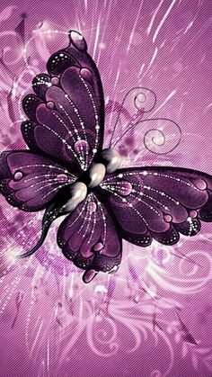 Butterflys are the most popular wallpapers this season. Butterfly Gif, Butterfly Pictures, Butterfly Kisses, Butterfly Wallpaper, Purple Butterfly, Butterfly Cards, Butterfly Watercolor, Butterflies Flying, Paper Butterflies