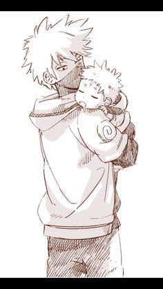 Sooooo cute, Kakashi will make a great father if he ever get the chance.