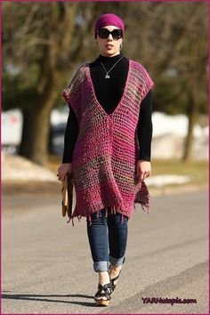 The All-Year-Round Poncho is one of the only fun fashion pieces you will need for any season! Simple, yet versatile, this great tunic style poncho can be worn in a number of ways. Paired with a var…