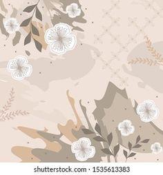 Pattern Design, Print Design, Scarf Design, Leaf Flowers, Watercolor Pattern, Portfolio, Beautiful Flowers, Abstract, Digital