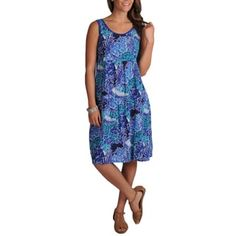a516932becd La Cera Women s Crinkle Printed Dress - Free Shipping Today - Overstock.com  - 14531306
