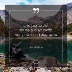 """Lo scrittore francese André Gide (1869-1951) ha vinto il Nobel nel 1957. Tra le sue opere più famose """"Corydon"""", """"Se il seme non muore"""", """"L'immoralista"""" e """"I sotterranei del Vaticano"""". #aforismi #aforisma #frasi #frase #occhi #eyes #sguardo #andregide"""