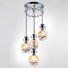 Fashion Pastoral Crystal Dining Room Pendent Lamp Bar Pendent Lamp Living Room Pendent Lamp -6