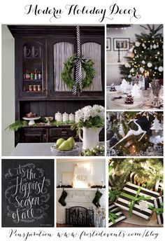 Modern Holiday Decor--repin via Frosted Events #zincdoor #modern #christmas #holiday #decorate