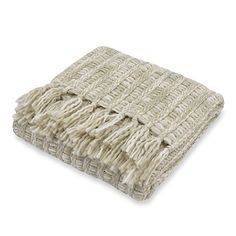 Carter Knit Ivory Throw; $39.99