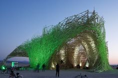 Attend the Burning Man festival, where the best design and amazing experience meet.