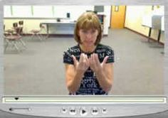 Learn how to sign several words at this American Sign Language site.