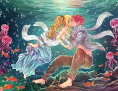 Anime Fairy Tail  Lucy Heartfilia Natsu Dragneel NaLu (Fairy Tail) Fondo de Pantalla