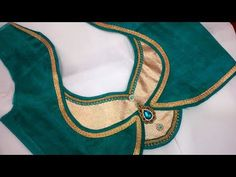 new and easy different blouse back neck designe cutting and stitching - YouTube