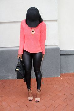 Love these Zara shoes... Orange Pop. So versatile and super chic!