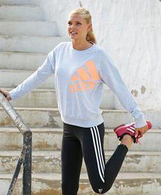 Adidas essentials logo genser fra Sportmann.no