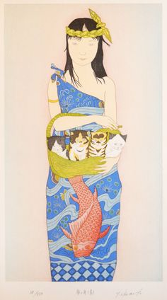 Yume no Fune, Blue ( Dream Boat) by Yoshimi Okamoto (Ref#: JP6304)