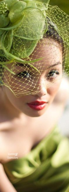 8560ea6bcf8076 #veil Green Colour Palette, Green Colors, Turquoise Fashion, Green Fashion,  Fedora