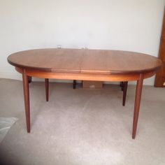 Authentic 1970 s G plan oval, teak, extending dining table Derbyshire