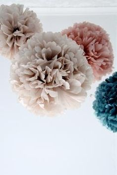 the colors of the pompoms are great together