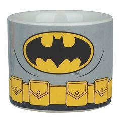 4 x JUSTICE LEAGUE of AMERICA Ceramic EGG CUPS - Superman BATMAN Wonder Woman
