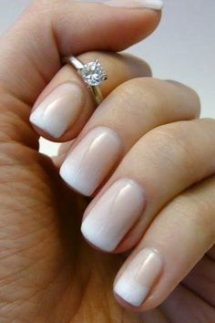 This gradient french manicure is the perfect style for wedding nails! Featured Photo via Heart Over Heels This gradient french manicure is the perfect style for wedding nails! Featured Photo via Heart Over Heels French Manicure Designs, Nail Art Designs, Nail Design, Design Design, Hair And Nails, My Nails, Oval Nails, Wedding Nails Design, Wedding Manicure