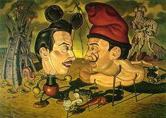 salvador dalí artist | Artist's illustration of Walt Disney and Salvador Dali. These guys are ...