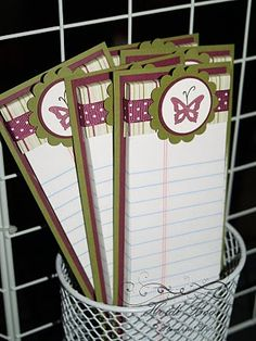 Stuck on Stampin': Craft Bazaar Round-Up 2010-used note pad that had been cut in half at Staples