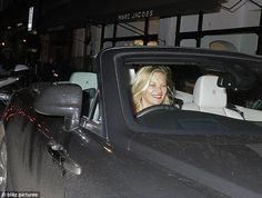 Dinner date: Kate took the wheel after joining a group of pals for dinner at London celeb haunt Scott's