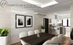 Projekt jadalni Inventive Interiors - otwarta jasna luksusowa jadalnia