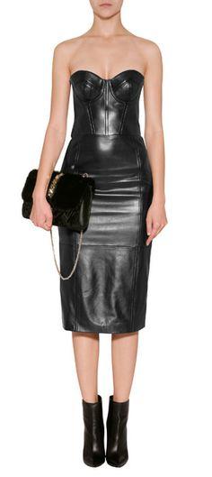 Michael Kors Leather Bustier Dress