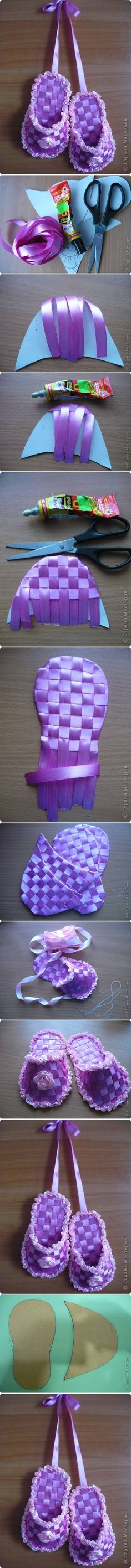 DIY Gift Ribbon Slippers DIY Projects