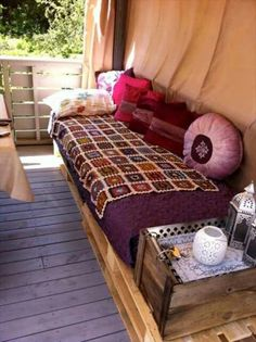 diy pallet furniture for terrace pallet sofa or pallet daybed