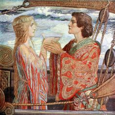 """John Duncan (1866-1945), """"Tristan and Isolde"""" by sofi01, via Flickr"""