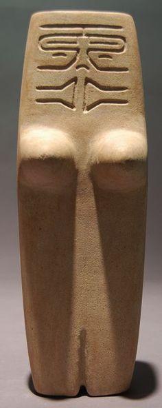 Ancestral Female Figure - Valdivia Culture - Ecuador 3500 - 2000 BC Limestone - William Siegal Gallery