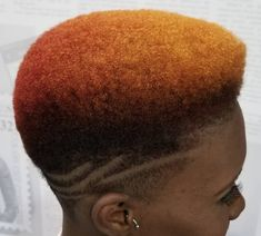 Dope gradient via Natural Short Cuts, Tapered Natural Hair, Natural Hair Styles For Black Women, Tapered Afro, Girl Short Hair, Short Hair Cuts, Short Hair Styles, Long Hair, Teen Hairstyles