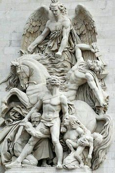 Sculpture on the Arc de Triomphe, Paris Christus Tattoo, Carpeaux, Angel Statues, Art Sculpture, Paris Ville, Michelangelo, Oeuvre D'art, Art History, Mythology