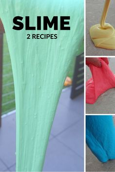 Stretchy Slime - 2 recipes - great sensory activity for kids