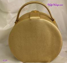Gold Hat Box Purse