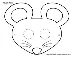 Ten free printable flower shape sets to use as craft patterns, coloring pages, or for flower-themed crafts and learning activities. Animal Mask Templates, Printable Animal Masks, Fun Crafts For Kids, Preschool Crafts, Templates Printable Free, Printables, Tree Templates, Diorama Kids, Mouse Mask