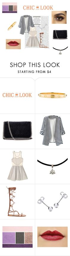 """""""Chic knee-high sandals in autumn"""" by chloe1013 ❤ liked on Polyvore featuring Cartier, STELLA McCARTNEY, Timo Weiland, IBB and Lancôme"""