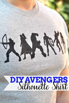 Why pay lots of money when you can make your own DIY Avengers Shirt? Get creative with the shirt design or use the FREE Avengers Silhouettes I'm sharing! {The Love Nerds} - Visit to grab an amazing super hero shirt now on sale! Silhouette Cameo Projects, Silhouette Design, Free Silhouette, Silhouette Files, Avengers Shirt, Marvel Avengers, Super Hero Shirts, Shirt Designs, Do It Yourself Fashion