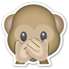 Speak No Evil Monkey | EmojiStickers.com