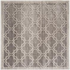 safavieh amherst light grayivory 7 ft x 7 ft square area rug