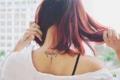 It's my first tattoo. I thought about it when I was eighteen and after 2 years, I got tattooed on the nape of the neck :) My tattoo is dragonfly, be bright and be free as it ♥