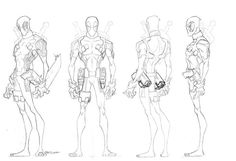 "Jeff Matsuda ""Here are some turns from the Hulk vs Wolverine DTV. I illustrated the fronts and the amazing Jon Suzuki turned these bad boys WAY better than I ever could. Jon's ability to translate mass across the turn is a joy to behold. Character Model Sheet, Character Poses, Game Character Design, Character Sketches, Character Design Animation, Character Modeling, Character Design References, Character Concept, Character Art"