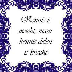 Kennis delen is kracht