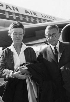Simone de Beauvoir and Sartre. Photo: Dalmas/Sipa. Date and place unknown