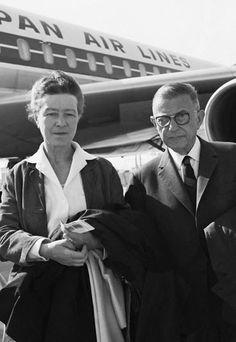 Simone de Beauvoir and Sartre. Photo: Dalmas/Sipa. Date and place unknown