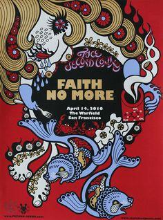 Faith No More by Junko Mizuno - The Warfield, San Francisco CA; 14 April 2010.