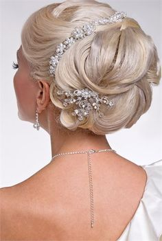 Bride's Hair Styled Up