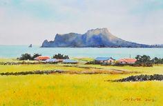 우도의 봄 53.0 x 40.9cm watercolor dn ppaper watercolor by Jung in sung