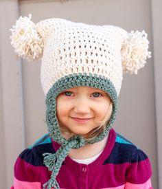 """Pom Pom Party"" Free Beginner Crochet Hat Pattern (Newborn – Adult)"